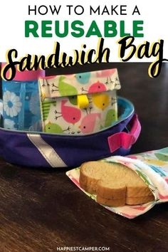 Tired of wasting all those ziplock bags the kids never bring back? Learn How To Make A Reusable Sandwich Bag instead! This fun sewing project is good for the environment and good for your wallet. We take you step by step through the process. You'll be sewing your own bag in no time! The best part is that you can make different sizes with different patterns for some fun variety.  Perfect for the back to school season! Sewing project. DIY sandwich bags. How To Make A Reusable Sandwich Bag. Easy Sewing Projects, Craft Tutorials, Sewing Tutorials, Reusable Sandwich Bags, Learn To Sew, How To Make, Blog Love, Best Blogs, Different Patterns