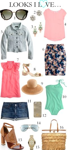 CHIC COASTAL LIVING: Looks I Love... #fashion #spring #summer