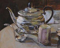 Original Still Life Painting by Teresa Benjamin Original Art, Original Paintings, Silver Teapot, Tea Cozy, Tea Art, Tea Service, Impressionism Art, Afternoon Tea, Still Life