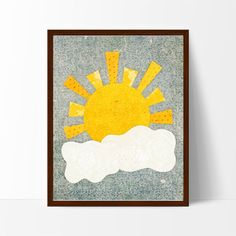 This sweet scene will add a touch of whimsy to any little sunshine's nursery or playroom.