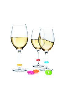 Juego de marcadores para copas de vino|TescomaOnline.es  http://www.tescomaonline.es/bebidas-125076/botelleros-articulos-de-bar-accesorio-138076/uno-vino-139076/uno-vino-marcadores-de-copas-linea-uno-vino-2178071/#