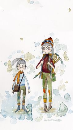 This is a drawing I made during the online course Illustrating Children's Books of Make Art That Sells by Lilla Rogers. I have so much fun in this course and it challenges me a lot. The story I chose is about a girl who has set her sights on being a mountaineer and will be the first woman ever to climb Mount Everest. Junko Tabei was her name. http://www.leonieverbrugge.com/being-a-mountaineer/