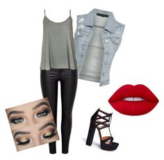 """""""LET's GO"""" by kayla1021 ❤ liked on Polyvore featuring WearAll, Aquazzura and Lime Crime"""