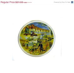Kingsway Collectors Plate Frank Pash Western by wildlifegardener