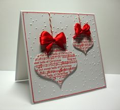 Everyday Crafting - red & white xmas decorations