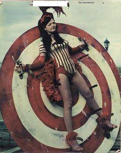 Meg White of The White Stripes Creepy Circus, Halloween Circus, Creepy Carnival, Cheap Halloween, Carnival Costumes, Halloween Costumes, Circus Poster, Circus Art, Circus Theme
