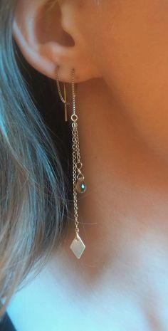 Threader earrings 14k gold filled threader by BEBeyondBeautiful