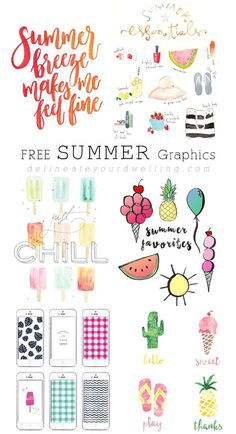 FREE Summer Graphic Must haves! - Delineate Your Dwelling