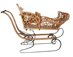 1880 Early American Child's Sleigh. The perfect prop in a music video.