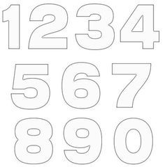 printable bubble numbers outlines 0 9 for school pinterest