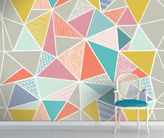 Geometric candy theme pretty pattern // sian elin thomas wallpaper from Print and Pattern. I love the scale.