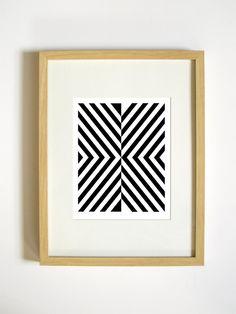 Black and White Abstract Geometric Wall Art - Mod High Contrast Print - 8x10 Home Decor. $20.00, via Etsy.
