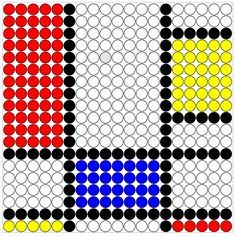 Piet Mondriaan could do that, the little kids can do it too! Mondrian, Wolf, Fantasy Kunst, Image Categories, Woodland Party, Art For Kids, Museum, Kunst Blog, Lego