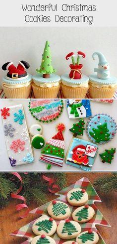 wonderful Christmas cookies decorating #ChristmasCookie Cookie Decorating Supplies, Pearl Sugar, Colored Sugar, Edible Food, Best Cookie Recipes, Royal Icing Cookies, Fun Activities For Kids, Melting Chocolate, Christmas Cookies