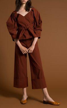 Three Quarter Sleeve Sweetheart Top by SEA for Preorder on Moda Operandi