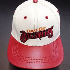 Tampa Pay  Buccaneers, LOGO TEAM NFL BASEBALL LEATHER CAP  Available at the LEATHER collection www.theLEATHERcollection.net
