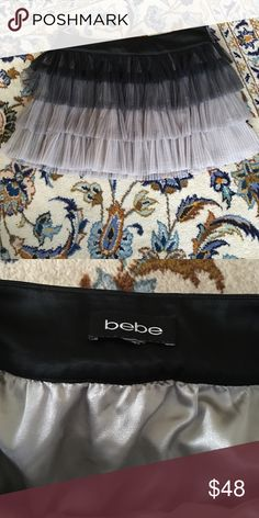 Bebe tulle mini going out skirt Perfect for NYE or even worn more casual for a date night with a t-shirt bebe Skirts Mini