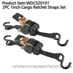 WDCS20101 2PC 1inch Cargo Ratchet Straps