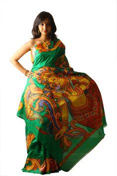 kerala sarees painting - Google Search
