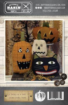 Lot de 3-premium Hardwood Trick or Treat-Halloween-Citrouilles-Coasters