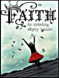 empty hands symbolizes brokenness and ready to really trust the ever living God with what is plans are not yours.