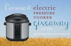 Electric Pressure Cooker Giveaway