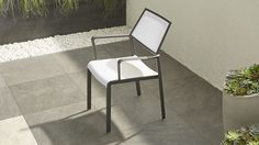 Largo White Mesh Dining Chair | Crate and Barrel