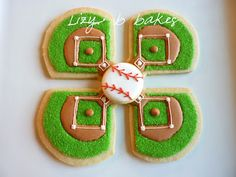 The Little League baseball season has officially begun! This is an extra spe. Galletas Cookies, Iced Cookies, Cut Out Cookies, Cute Cookies, Royal Icing Cookies, Cupcake Cookies, Sugar Cookies, Cookies Et Biscuits, Basic Cookies