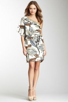 Hale Bob Beaded One Shoulder Silk Dress by Non Specific on @HauteLook #ostomate