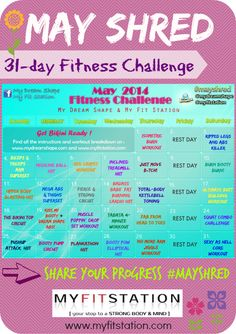 May Fitness Challenge: 31-day Shred !