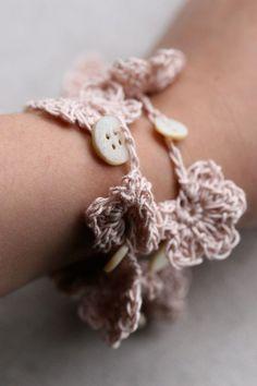 Crochet Bracelet Necklace