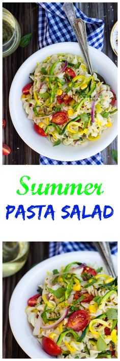 Summer Vegetable Pasta Salad Packed with all the delicious fresh vegetables of the summer! www.shelikesfood.com