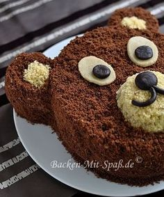 Mocha panforte - funny food – creative food prepared for young and old - Cake Cookies, Cupcake Cakes, Cupcakes, Baby Food Recipes, Cake Recipes, Cake & Co, Bear Cakes, Food Humor, Cakes And More