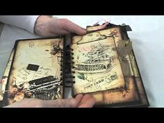 Vintage Love Story Journal Album - YouTube
