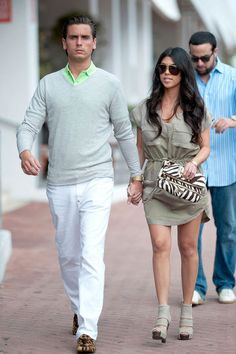 Scott Disick & Kourtney Kardashian Scott's looking pretty dapper