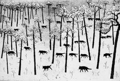 Hunters in the Snow, etching and aquatint, 20 x 30 cm, £185 unframed, £235 framed
