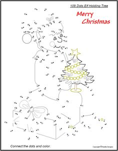 Challenging Color by Number Printables | Free Printable Christmas Connect the Dots for Children - Yahoo! Voices ...