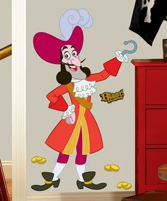 Take a look at this Captain Hook Wall Decal by Jake and the Never Land Pirates on #zulily today!
