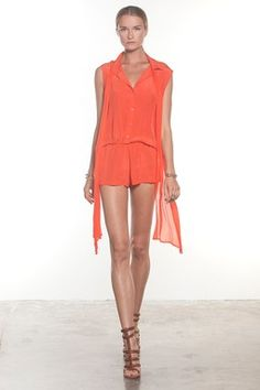 HauteLook | Lady In Red: ALEXIS Baker Silk Romper -- pair w/ flip flops or strappy gold heels/accessories for the perfect spring day to night outfit!