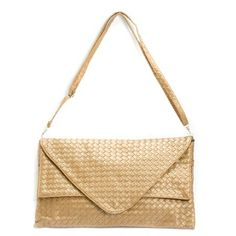 Bronze Woven Clutch Evening Handbag ♥