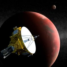 Artist's impression of NASA's New Horizons probe flying past Pluto on July 15, 2015. Mission officials are currently looking for objects that the spacecraft could visit after this historic encounter.