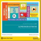 LA INFORMACIÓN EN INTERNET. 1ª PARTE: Dónde y cómo buscar información en Internet