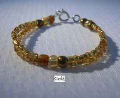 Double Strand Beaded Baby Bracelet by ThoughtsAboutGrace on Etsy, $6.00