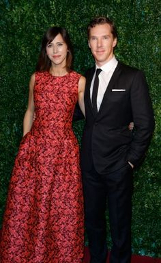 Preparing to tie the knot: actor Benedict Cumberbatch and theatre director Sophie Hunter.