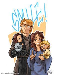 The Skywalkers as a Disney family. Trololol, Leia.