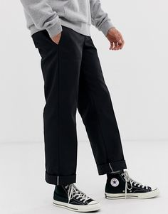 Buy Dickies 873 work pant chino in straight fit at ASOS. Get the latest trends with ASOS now. Converse Outfits, Skateboard Outfits, Dickie Work Pants, Dope Outfits For Guys, Dickies Pants, Pants Outfit, Look Cool, Streetwear Fashion, Asos