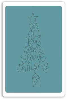 Sizzix  Embossing Folder - Christmas Tree #9. This Embossing Folder showcases the friendly style of Ellison die artist Jen Long.