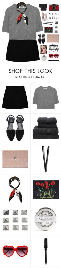 """YOUNG BLOOD"" by emmas-fashion-diary ❤ liked on Polyvore featuring Boohoo, Valentino, Christy, Stila, Alexander McQueen, Gucci, STELLA McCARTNEY, LØMO, Dakine and GHD"