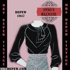 1930s blouse   digital - draft at home - sewing pattern