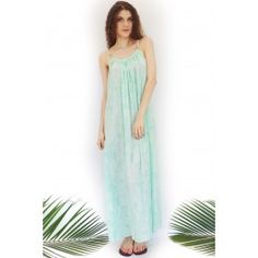 Maxi Dress Rope Bead Pale Green $59.99